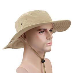 Panegy Outdoor Big-brimmed Boonie Cap Cowboy Bucket Hat with
