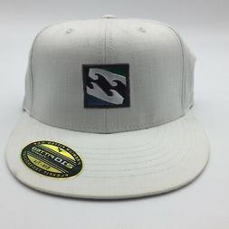 "Billabong Flexfit One ""Mahtlrew"" White-- Display Hat"