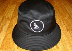 Mens Classic Kangol Cotton Bucket Hat Color  Black