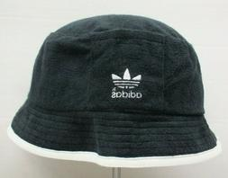 ADIDAS BLACK FISHING BUCKET HAT VINTAGE 90'S S/M NEW BY ADID