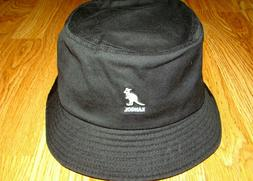 Black  KANGOL  Washed   Bucket  Hat  Style K4224HT