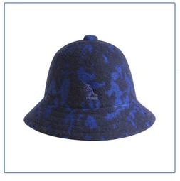 Kangol Blue Marbled Casual Wool Bermuda Bucket  Cap Hat NWT