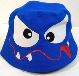Blue Monster Child's infant Cotton Bucket Hat One size New