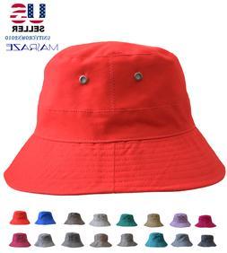 Boonie Bucket Hat Cap Cotton Fishing Brim visor Sun Safari S