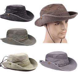 Boonie Bucket Hat Cap Cotton Fishing Hunting Mesh Summer Mil