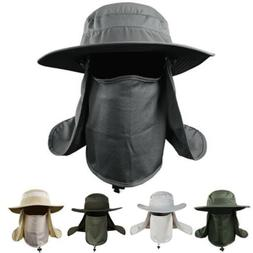 Boonie Hat Fishing Army Military Hiking Snap Brim Neck Cover