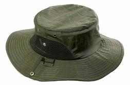 Boonie Bucket Hat Fisherman Wide Brim Safari Cap Summer Sun