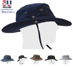 Boonie Bucket Hat Fisherman Wide Brim Safari Cap 100 Percent