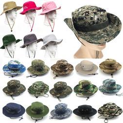 Boonie Bucket Hat Outdoor Hunting Fishing Wide Brim Safari S