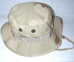 BOONIE HAT BUSH HAT DESERT 3 COLORS POLY COTTON TWILL BUCKET