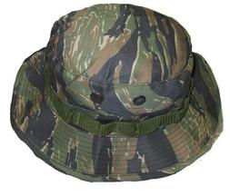 BOONIE HAT BUSH HAT TIGER STRIPES POLY COTTON TWILL BUCKET s