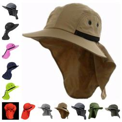 Boonie Snap Hat Brim Ear Neck Cover Sun Flap Cap Hunting Fis