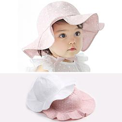 Boys Girls Dot Bucket Hat Wide Brim Hats Kids Baby Cotton Ou