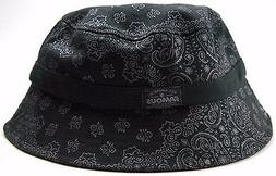 Famous Brand Black Paisley Bucket Style Fishing Cap Hat