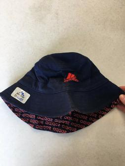 brand new navy and red bucket hat