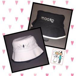 Bride & Groom Bucket Hat Set - Wedding Honeymoon Engagement