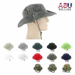 Newhattan Bucket Cap 100% Cotton Fishing Military Safari Sum