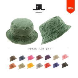bucket hat 100 percent cotton pigment dyed