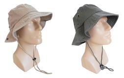 Bucket Hat 100% Cotton Sun Sports Camping Fishing Caps Khaki