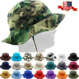 Bucket Hat Boonie Hunting Fishing Outdoor Cap Washed Cotton