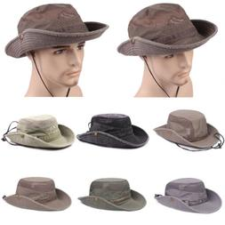 Bucket Hat Boonie Hunting Fishing Outdoor Cap Wide Brim Mili