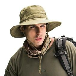 Men Women Bucket Hat Boonie Hunting Fishing Wide Brim Safari