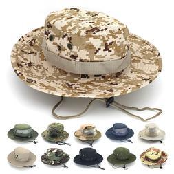 Bucket Hat Boonie Hunting Fishing Outdoor Cap Wide Brim Mili