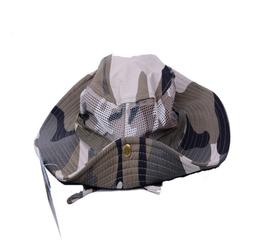 Bucket Hat Boonie Hunting Outdoor Wide Brim Camo Sun Net Mes