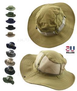 Bucket Hat Cap Boonie Fishing Wide Brim Visor Sun Safari Sum