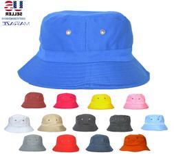 bucket hat cap cotton fishing boonie brim