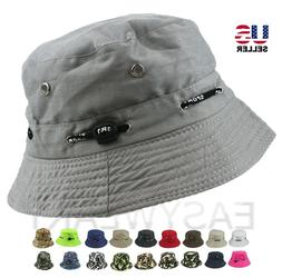 bucket hat cap cotton fishing boonie brim