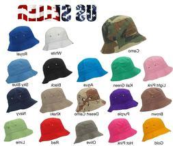 Bucket Hat Cap Cotton Sun Hat Outdoor Cap Boonie Bucket Brim