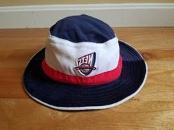 NEW ERA BUCKET HAT CAP NBA NEW JERSEY NETS VTG  Velour OSFA