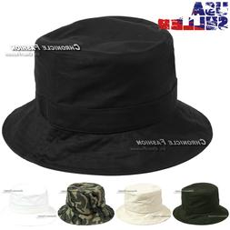 Bucket Hat Cotton Cap Fishing Boonie Brim Sun Visor Plain So 059a415a2cb6