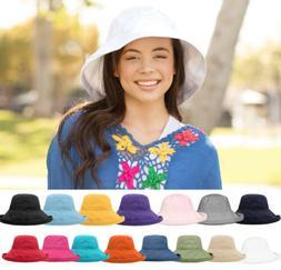 bucket hat cotton wide brim boonie visor