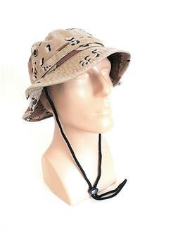 Bucket Hat Desert Camo Design S/M L/XL Summer Sun Hat 100% C