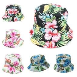 Hawaiian Bucket Hat Floral Hats Fashion Cap Casual Caps Head