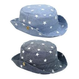 Children Denim Fisherman Cap for Boys Girls Sun Protection B