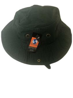 Newhattan Bucket Hat Forest Green Cotton-fishing-hiking-sun