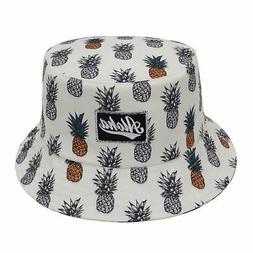 Bucket Hat Women Head Accessories Pineapple Hawaii Aloha One