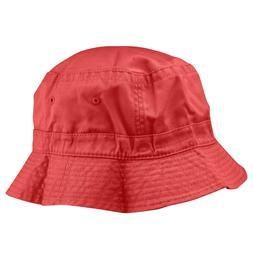 Bucket Hat in Red L XL Womens Mens Unisex Sun Cap
