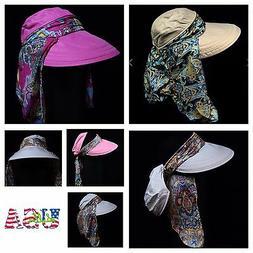 Bucket Hat Neck Cover Fashion Hats Sun Flap Brim Visor Plain