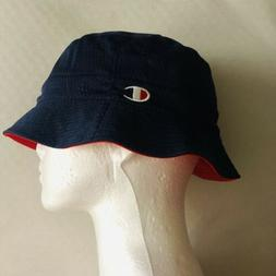 Champion Bucket Hat Reversible Blue Red Hat Size Small/Mediu