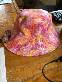 bucket hat reversible tulip pink