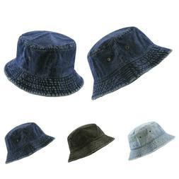 Bucket Hat - The Hat Depot Denim Washed cotton Bucket Hat