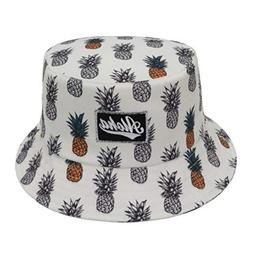 Bucket Hat Women Head Accessories Pineapple Hawaii Aloha One