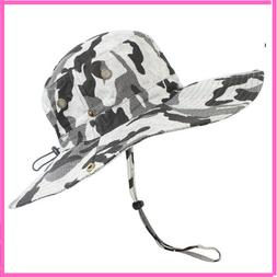 Bucket Hats For Men And Women Wide Brim UV Protection Flat C