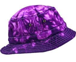 Colortone Bucket Hats Youth Spider Purple
