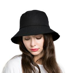 Bucket Sun Hat Women Floppy Cotton Hats Wide Brim Summer Bea