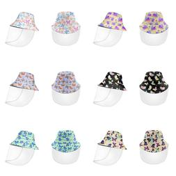 Butterfly Bucket Hat for Women Girls with Face Shield Protec